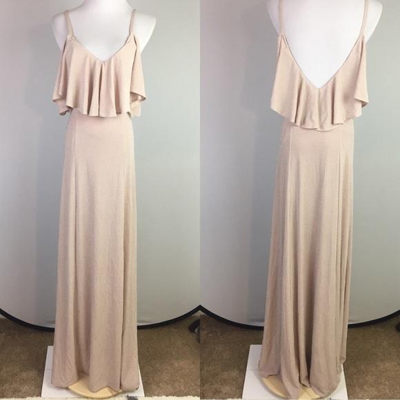 d258a205123 Show Me Your Mumu Renee Ruffle Maxi Dress in Blush